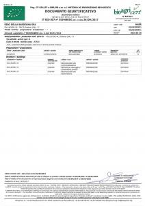 Certificato prodotti bioligici